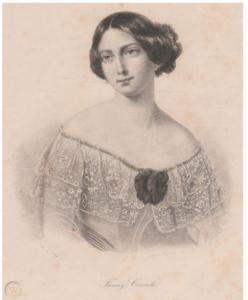 This rare German image of Francesca Cerrito published circa 1845